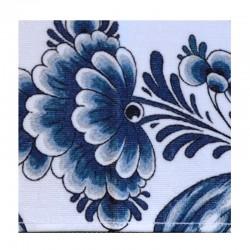 TOWEL DELFT BLUE TULIPS FLOWERS BIRDS