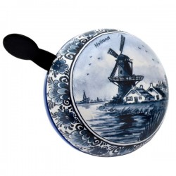 BICYCLE BELL DELFT BLUE WINDMILL FLOWER DING DONG