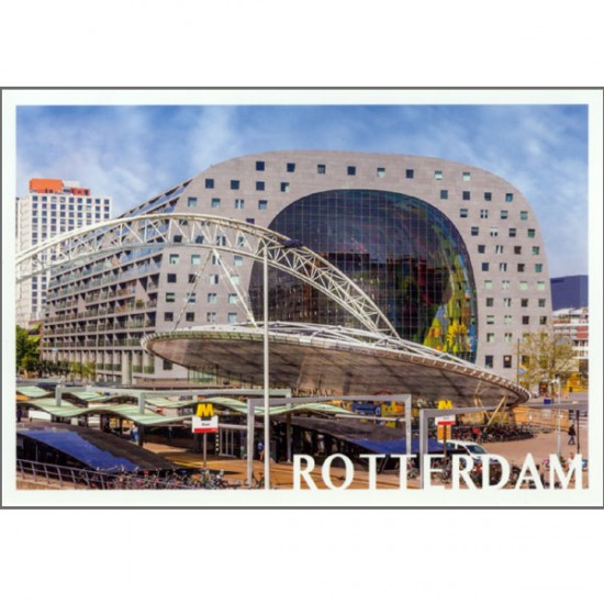 Postcard photo rotteram market hall vk13
