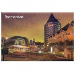 PHOTO MAGNET ROTTERDAM BLAAK DUSK
