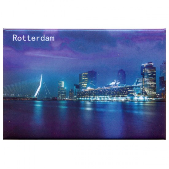 PHOTO MAGNET ROTTERDAM VIEW ON SOUTH BY NIGHT