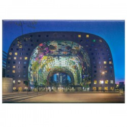 PHOTO MAGNET ROTTERDAM MARKET HALL DUSK