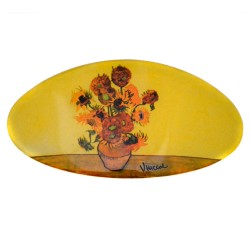 HAIRPIN VAN GOGH SUNFLOWERS VASE