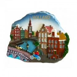 FRIDGE MAGNEET SCENE HOLLAND CITY 2D