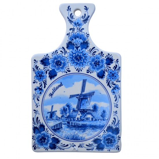 CHEESE BOARD DELF BLUE CERAMICS WINDMILL BIG