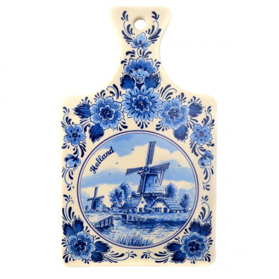 CHEESE BOARD DELF BLUE CERAMICS WINDMILL SMALL