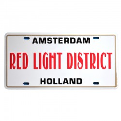 LICENSE PLATE AMSTERDAM RED LIGHT DISTRICT