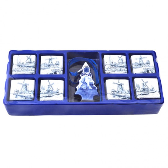 Gift box chocolate tiles christmas special travel