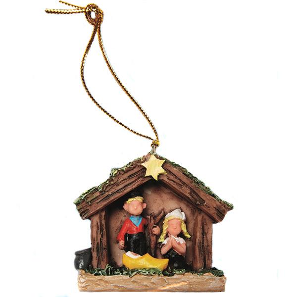 Christmas Tree Pendant Nativity Scene Wooden Shoe Christmas Gifts