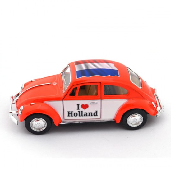 Miniatur volkswagen beetle love holland orange de