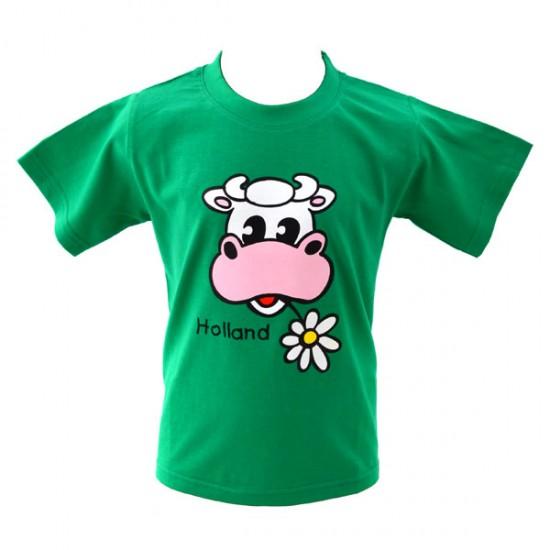 KIDS SHIRT COW HOLLAND FLOWER GREEN