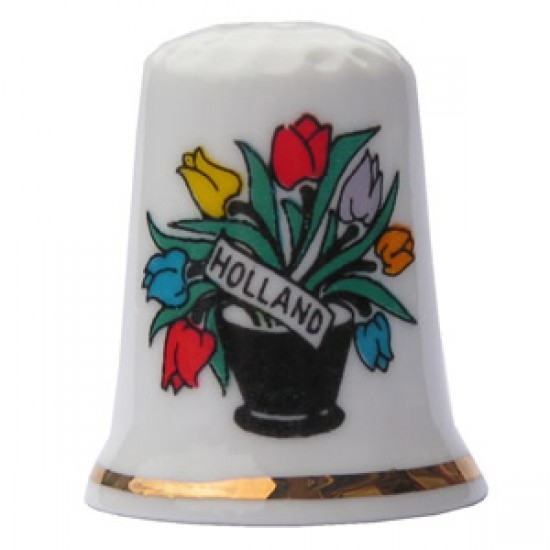 THIMBLE VASE TULIPS HOLLAND COLOR