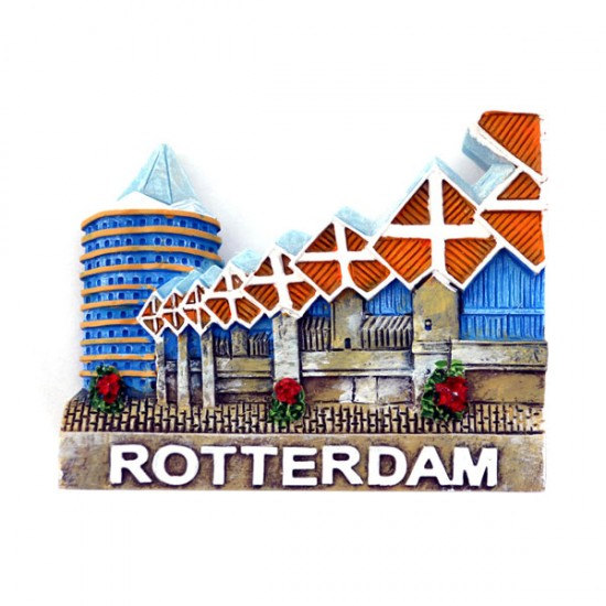 FRIDGE MAGNET CUBE HOUSES ROTTERDAM BLAAK 2D