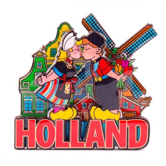 Magneet holland compilatie kussend paar kleur