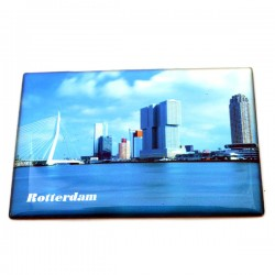 FRIDGE MAGNET ROTTERDAM SKYLINE HEAD ON SOUTH EPOXY