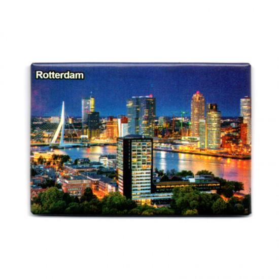 Magnet photo rotterdam skyline by night