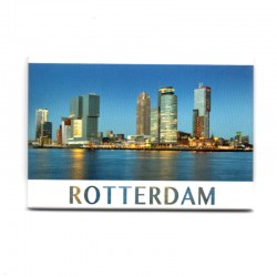 MAGNET PHOTO ROTTERDAM SKYLINE DUSK KRM