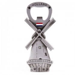 FRIDGE MAGNET BOTTLE OPENER HOLLAND WINDMILL FLAG