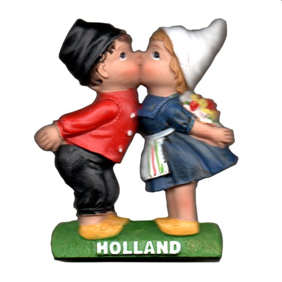 MAGNET KISSING COUPLE HOLLAND 2D POLY