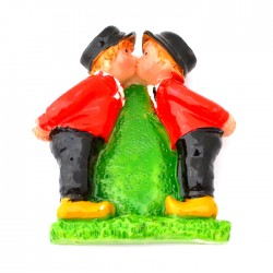 MAGNET KISSING COUPLE BOYS GAY COLOR