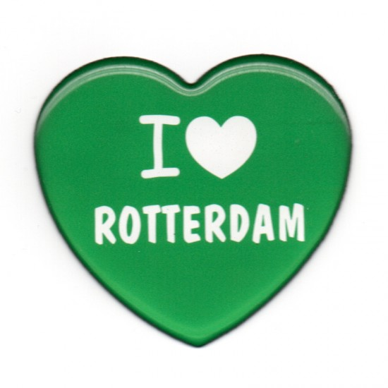 Magnet love rotterdam green heart epoxy