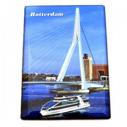 FRIDGE MAGNET ROTTERDAM SPIDO ERASMUS BRIDGE EPOXY