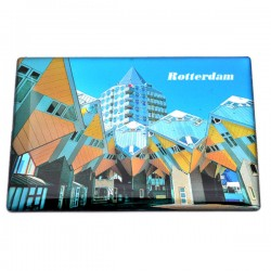 FRIDGE MAGNET ROTTERDAM CUBE HOUSES BLAAK TOWER EPOXY