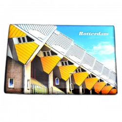 FRIDGE MAGNET ROTTERDAM CUBE HOUSES ROW EPOXY