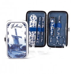 MANICURE SET HOLLAND DELFT BLUE WINDMILL