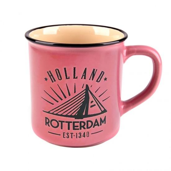 BECHER ROTTERDAM HOLLAND VINTAGE ROSA