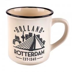 MUG ROTTERDAM HOLLAND VINTAGE WHITE