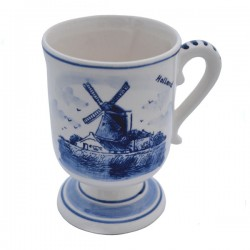 MUG ON FOOT DELFT BLUE 12 CM