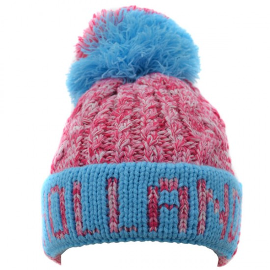 MUTS POMPON HOLLAND ROZE BLAUW ROBIN RUTH