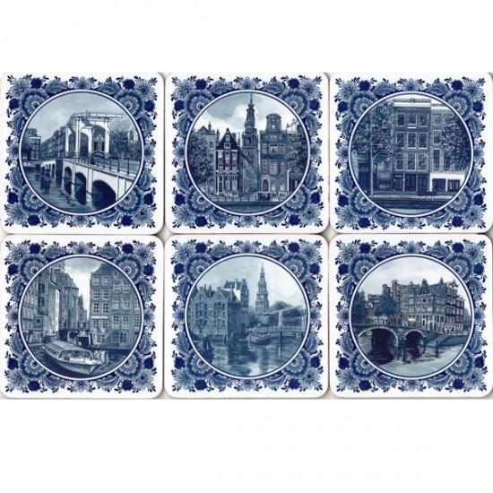 Onderzetters delfts blauw amsterdam afbeeldingen