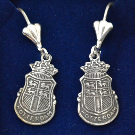EARRINGS ROTTERDAM CITY LOGO SILVER PLATED