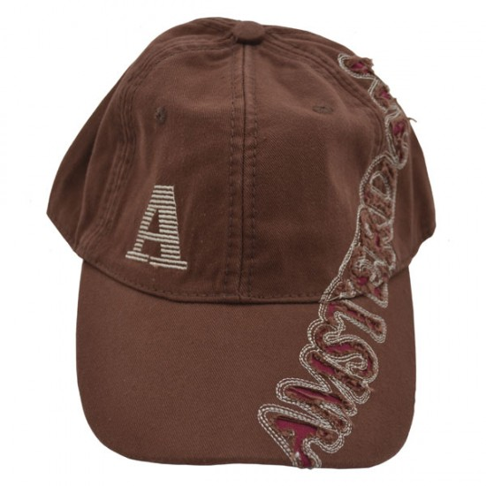 BASEBALL CAP BROW DARK RED CHARS AMSTERDAM ROBIN RUTH