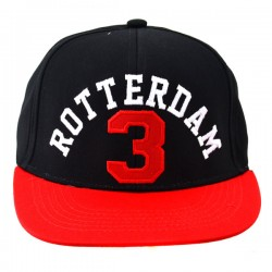 SNAPBACK BASEBALL CAP ROTTERDAM 3 RED BLACK