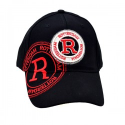 BASEBALL CAP ROTTERDAM R RED WHITE BLACK JIM