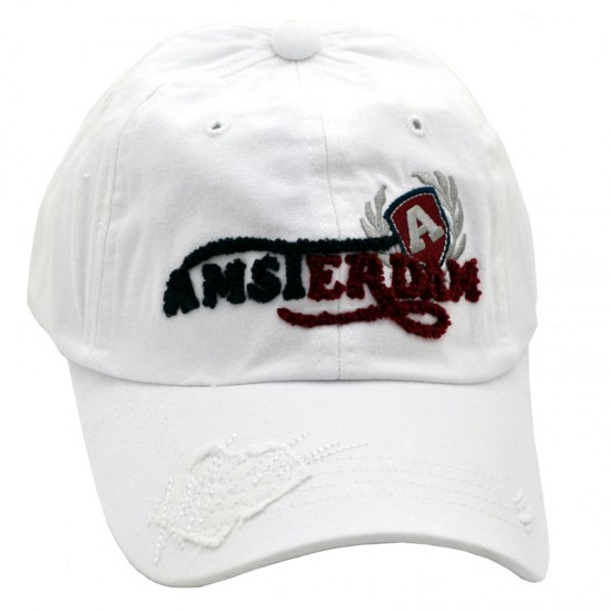 Pet / baseball cap wit letters amsterdam trash look robin ruth