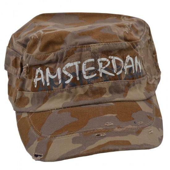 Pet / baseball cap leger groen bruin camouflage  amsterdam robin ruth