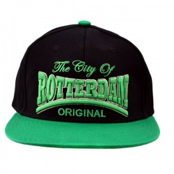 SNAPBACK BASEBALL CAP CITY ROTTERDAM GREEN BLACK