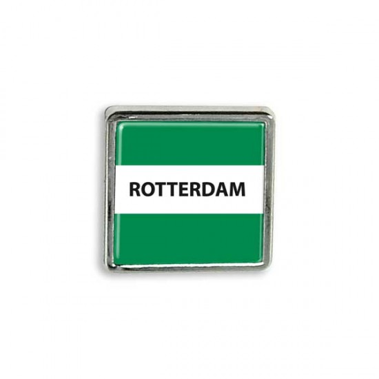 PIN ROTTERDAM FLAG SQUARE EPOXY