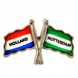 PIN FLAG ROTTERDAM HOLLAND