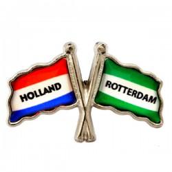 PIN FLAG ROTTERDAM HOLLAND
