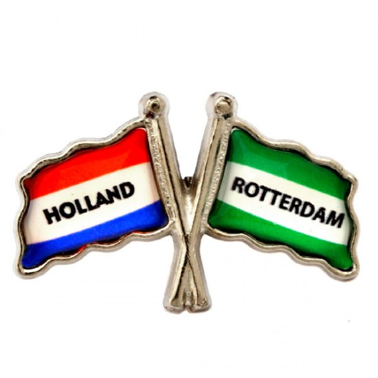 Pin flagge rotterdam holland epoxy