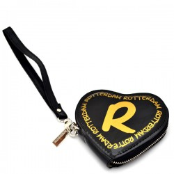 WALLET ROTTERDAM HEART BLACK GOLD SHINY