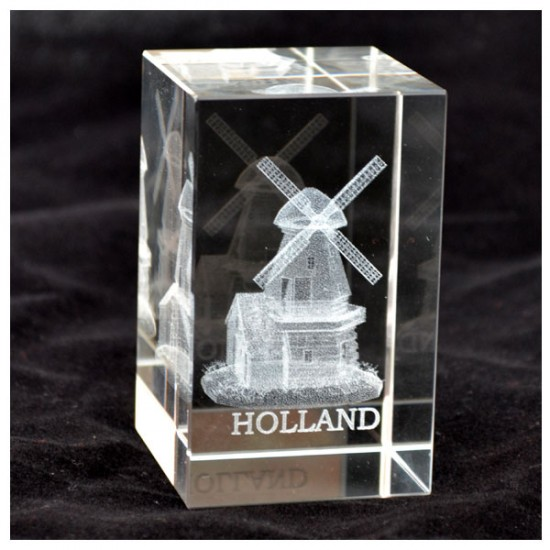 PAPER PRESS GLASS LASER WINDMILL HOUSE HOLLAND
