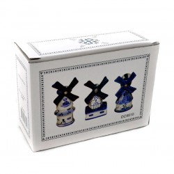 SET DELFT BLUE WINDMILLS IN BOX