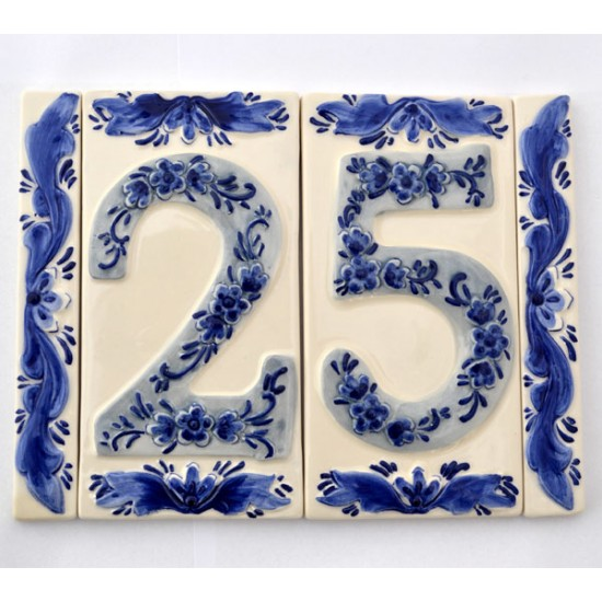CAPSTONE HOUSE NUMBER DELFT BLUE
