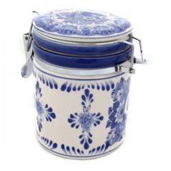STORAGE JAR DELFT BLUE WINDMILL LANDSCAPE HOLLAND